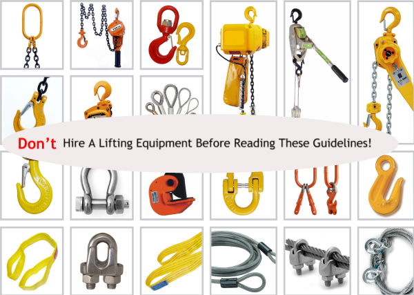 Don't Hire A Lifting Equipment Before Reading These Guidelines!